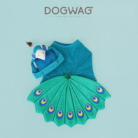 도그웨그 DOGWAG 공작새 코스튬