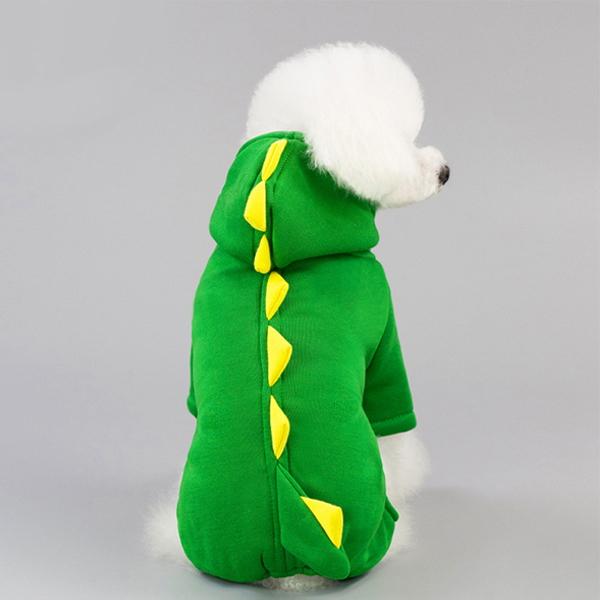 공룡 코스튬 강아지 겨울 올인원 고양이 후드