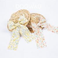 도그웨그 플라워 밀짚모자 강아지 고양이 여름 소형견 악세사리