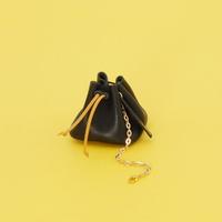 솔리드 풉백 파우치 블랙