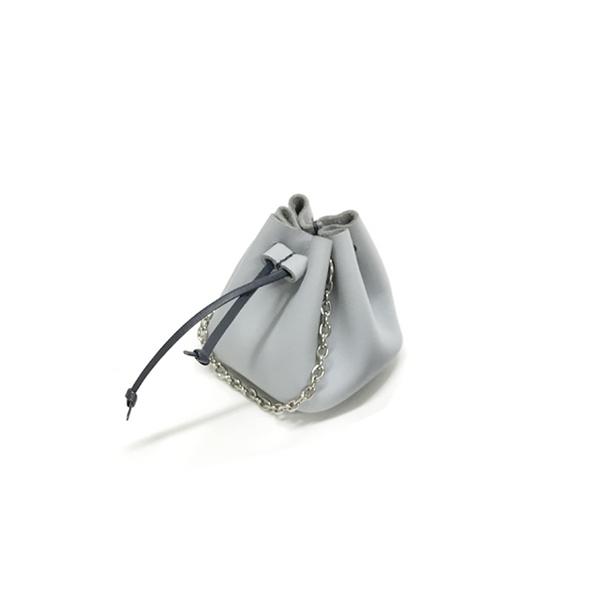 Solid Doket Bag Greyish Blue