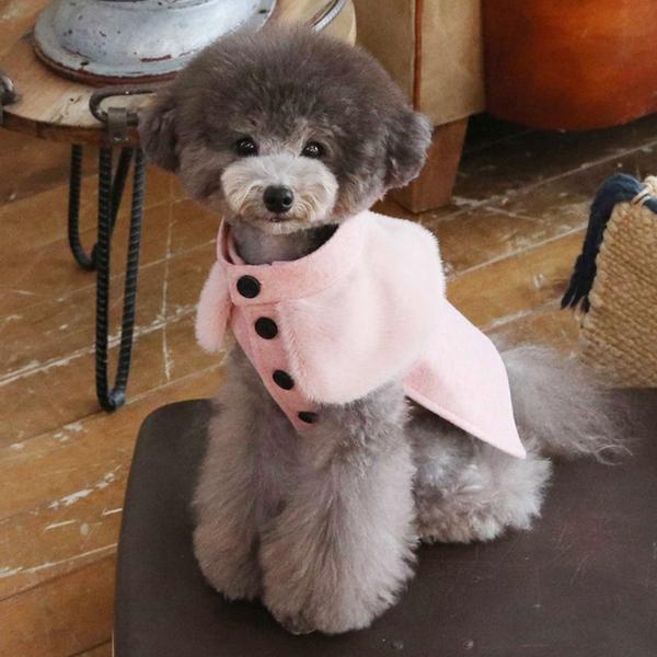 쥬리 울 코트 핑크
