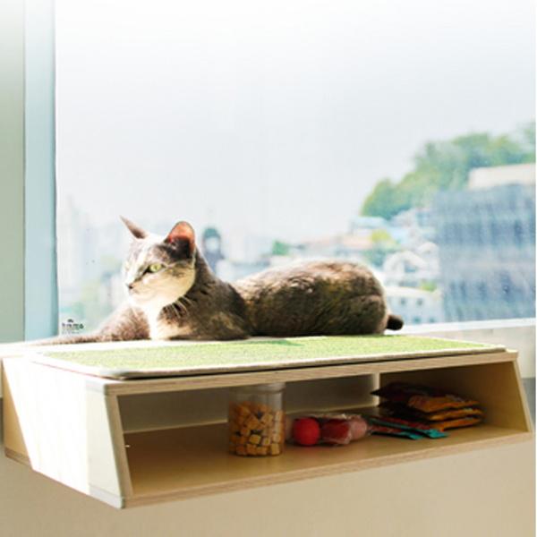 뽀떼_냥반600_오픈형_캣타워 윈도우캣타워 고양이