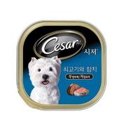 시저 강아지 캔 쇠고기와 참치 100g