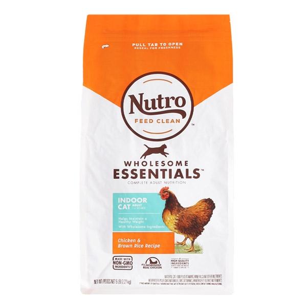 뉴트로 내추럴 초이스 캣 인도어 시니어 닭고기와 현미 2.27kg