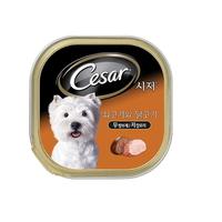 (특가)시저 강아지 캔 쇠고기와 닭고기 100g 10개