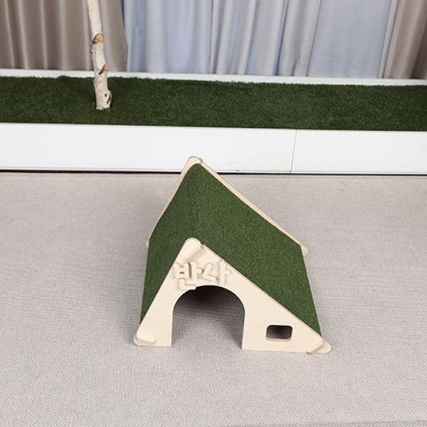 원목 펫하우스 삼각하우스