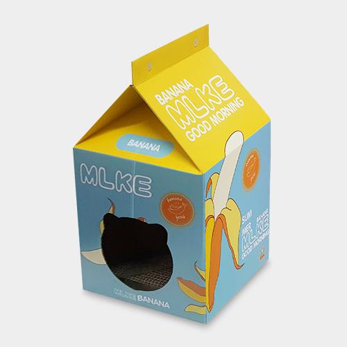 아이핏코리아 고양이 숨숨집 밀크박스 바나나우유