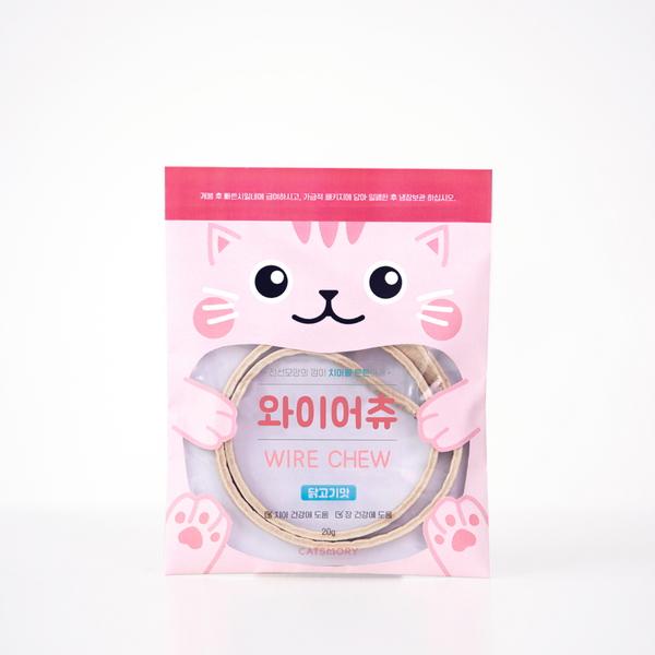캣츠모리 와이어츄 닭고기맛 고양이 덴탈껌 - 1p