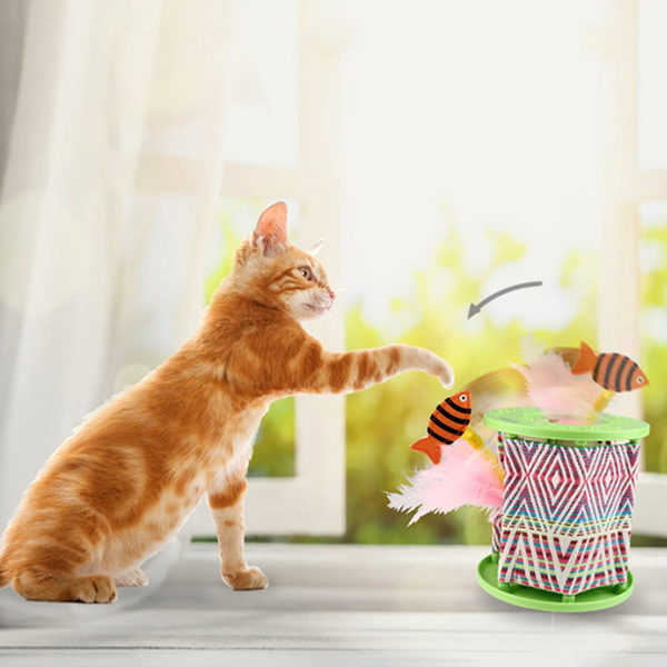 펫긱 원더팟 움직이는 고양이 깃털 자동 장난감