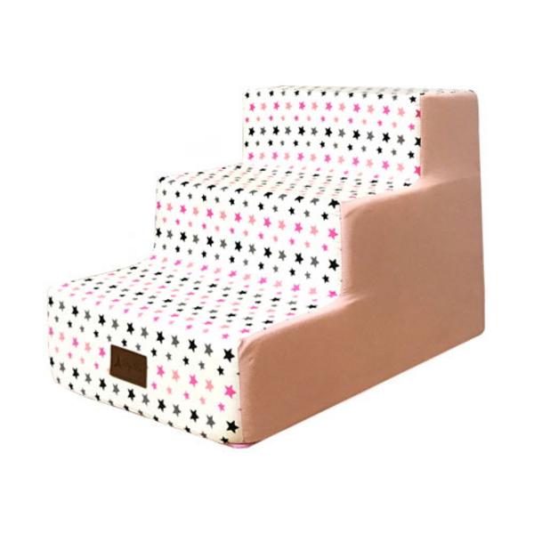북유럽 스칸디나비아별 3단 계단 핑크