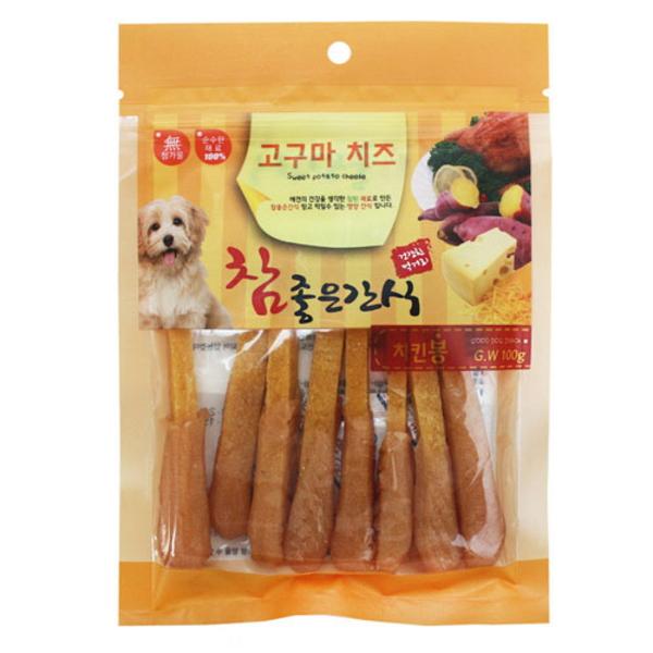 참 좋은 간식 100g (고구마 치즈 - 치킨 봉)