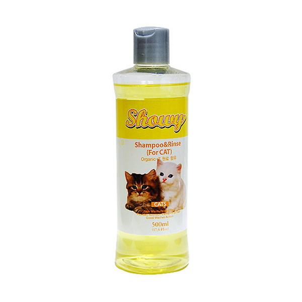 쇼니 유기농 고양이 샴푸린스 500㎖ - 파파야향