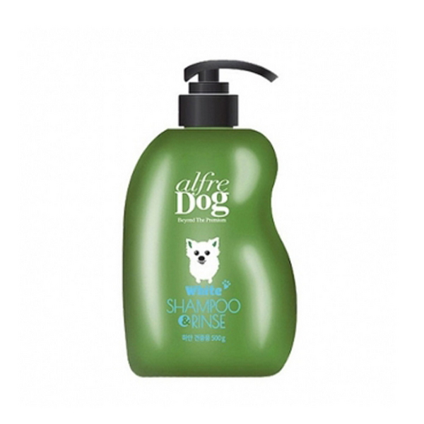 Alfre Dog 화이트 샴푸_린스 500ml (백모용) - in