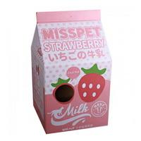 미스펫 밀크 하우스형 핑크딸기 우유 스크래쳐