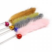 미요미 고양이 장난감 방울 밍크 버들 낚시대 3개