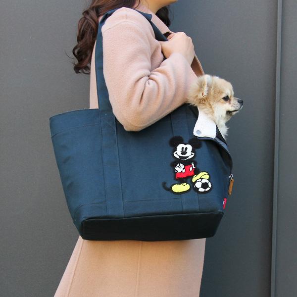 디즈니 캐릭터 펫 에코 쇼퍼백 네이비