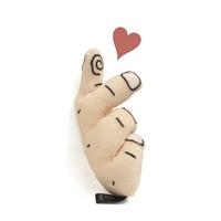 딩독 강아지 장난감 삑삑이 손하트 인형