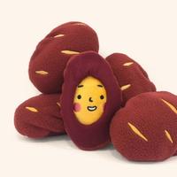 딩독 강아지 장난감 삑삑이 노즈워크 고구마 인형