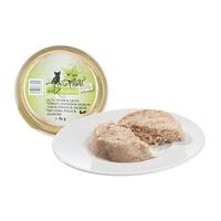 (유통기한21.09.27)캣츠파인푸드 고양이 캔 필렛 NO.405 칠면조 닭고기와 연어 85g