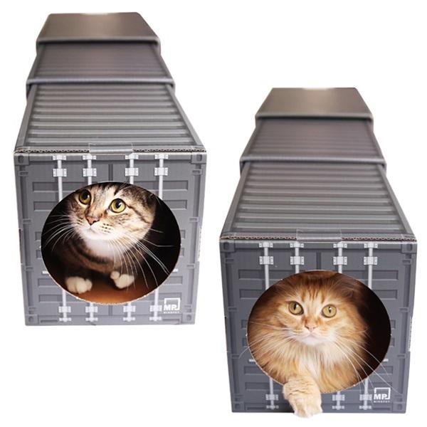 고양이 숨숨집 터널 3단 하우스