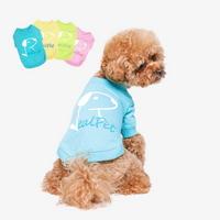 강아지 고양이 항균 가공 파스텔 라운드 티셔츠