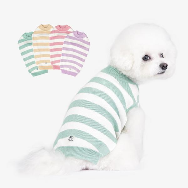 스트라이프니트 강아지옷 진드기퇴치 해충방지