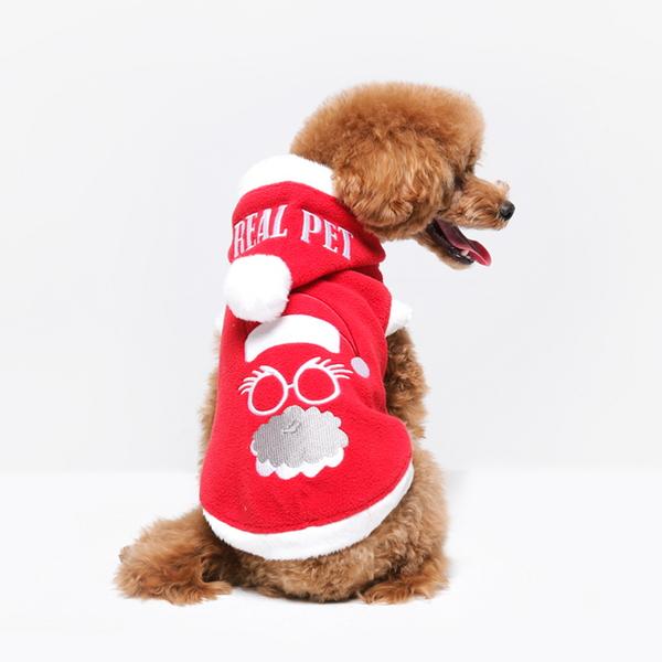 리얼펫 메리크리스마스 강아지 산타옷 애견 크리스마스 의류