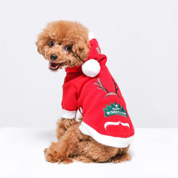 리얼펫 달릴까말까 강아지 산타옷 애견 크리스마스 의류