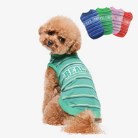 리얼펫 컬러풀 라운드 티셔츠 애견 반려견 강아지옷