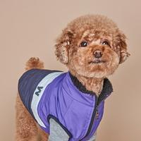 모던아우터 강아지 패딩 퍼플