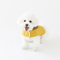 Reversible quilted coat(Yellow)