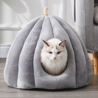 고양이 강아지 극세사 호박 숨숨집 하우스