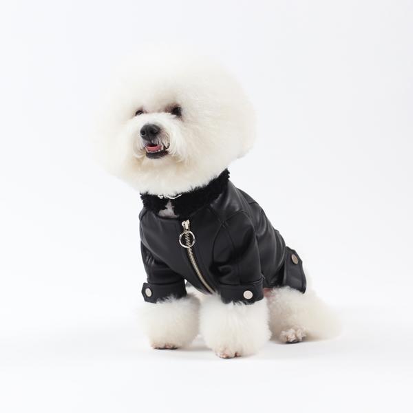 에덴숑-Mustang Rider jacket-Black(무스탕라이더자켓-블랙)
