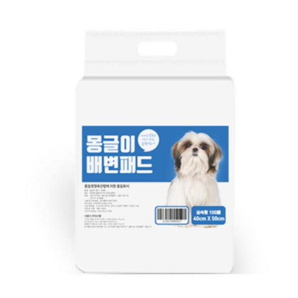 몽글이 강아지 배변패드 실속형 무향 100매