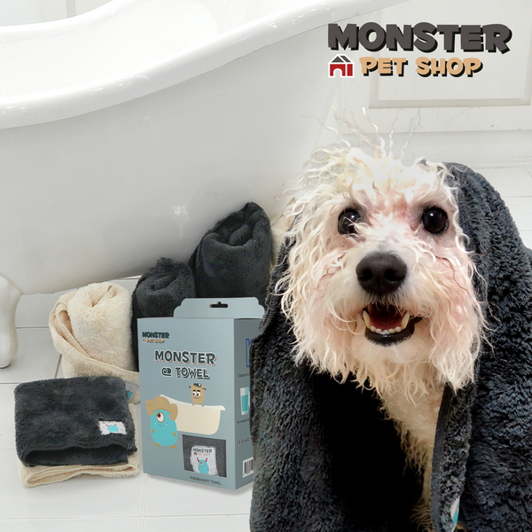 몬스터타올 강아지 고양이 목욕 수건 펫타올