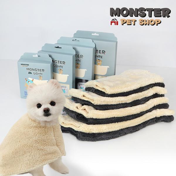 몬스터타올 강아지 고양이 목욕 가운 펫가운