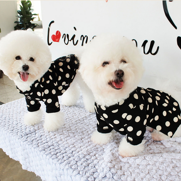 DOG_몽페레 플러피 도트원피스 (Snug Black)