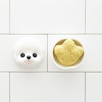 앙펫 강아지 발바닥모양 치자 천연 비누 오렌지향