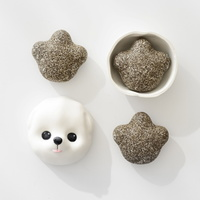 앙펫 강아지 발바닥모양 카키 천연 비누 레몬그라스향