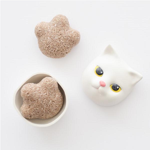 브라운 마따따비 라벤더 고양이발바닥모양