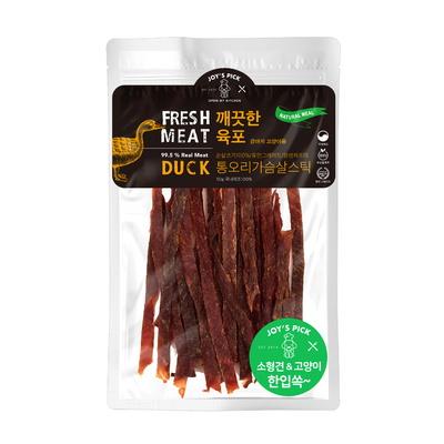 깨끗한 육포 건강한 통 오리 가슴살 강아지 소형견 스틱 간식 50g (5만원이상 구매시 저키세트 증정)