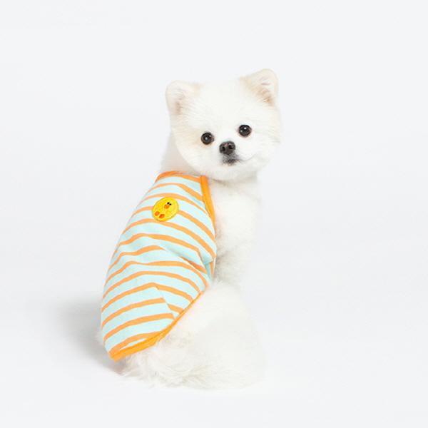 [라인프렌즈] 샐리 퐁퐁 스트라이프 민소매 티셔츠