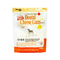 더독 애견간식 맘스 덴탈콘껌 치즈 300g
