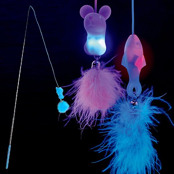 우쭈쭈 LED 고양이 낚시대 마우스