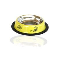 레인텍 노란색 스텐 식기 12cm
