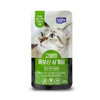 (유통기한21.09.01)테비 고양이 간식 몸보신 삼계탕 닭고기와 단호박 120g