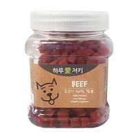 하루애져키 강아지 간식 소고기 큐브 400g