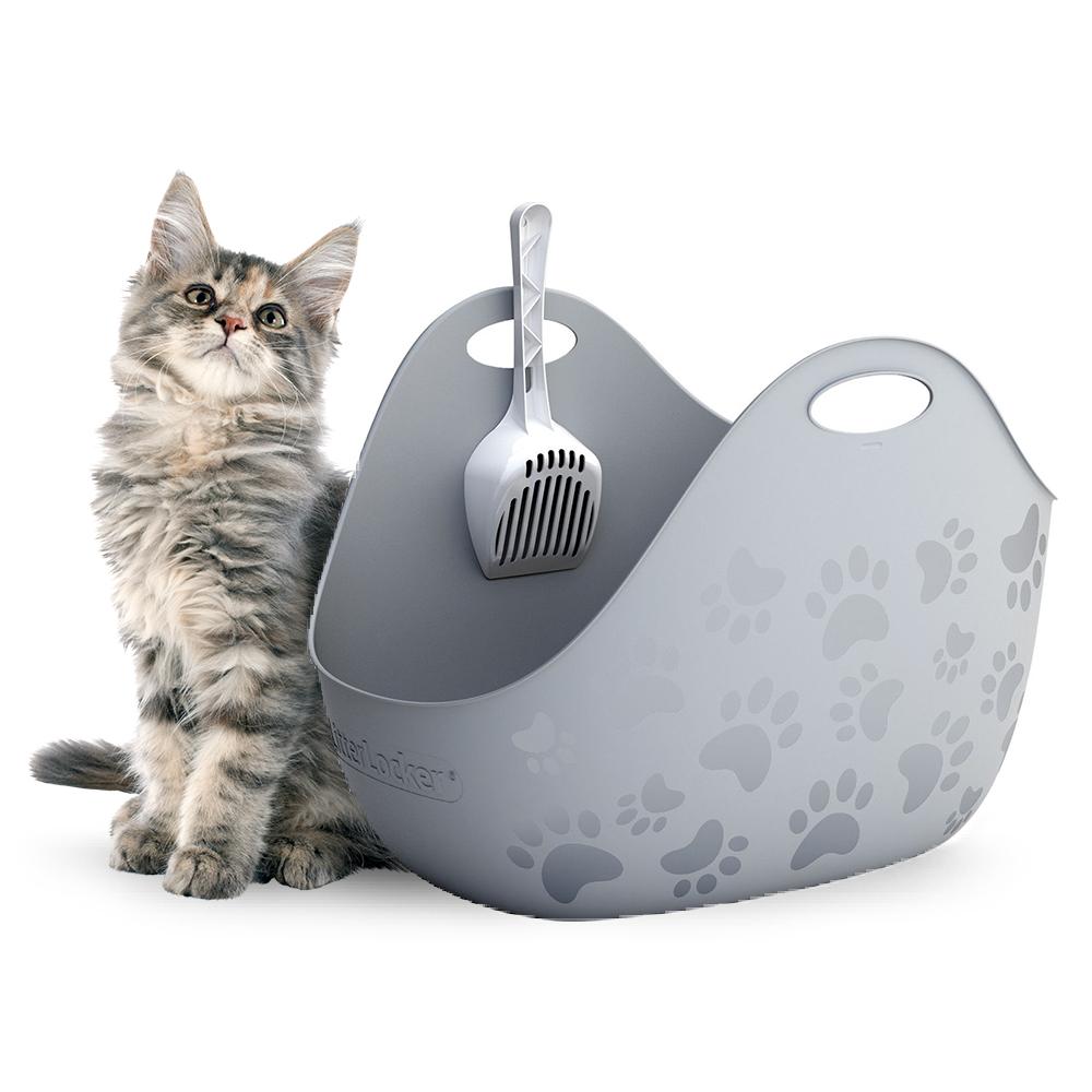 리터박스 고양이 화장실 집 위생 평판형 대형