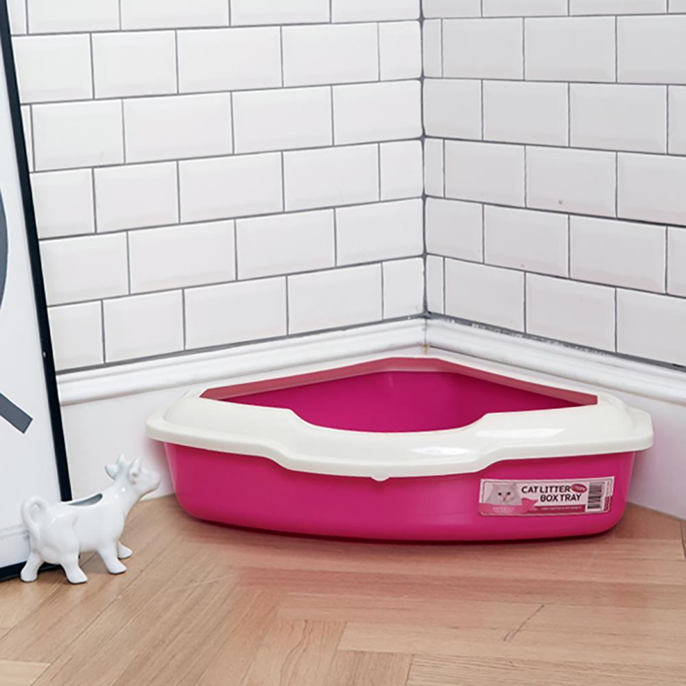 한큐뚝딱 스마트 평판형 고양이 화장실 CT-03 핑크